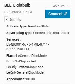 nRF Connect for desktop ONLY shows custom service