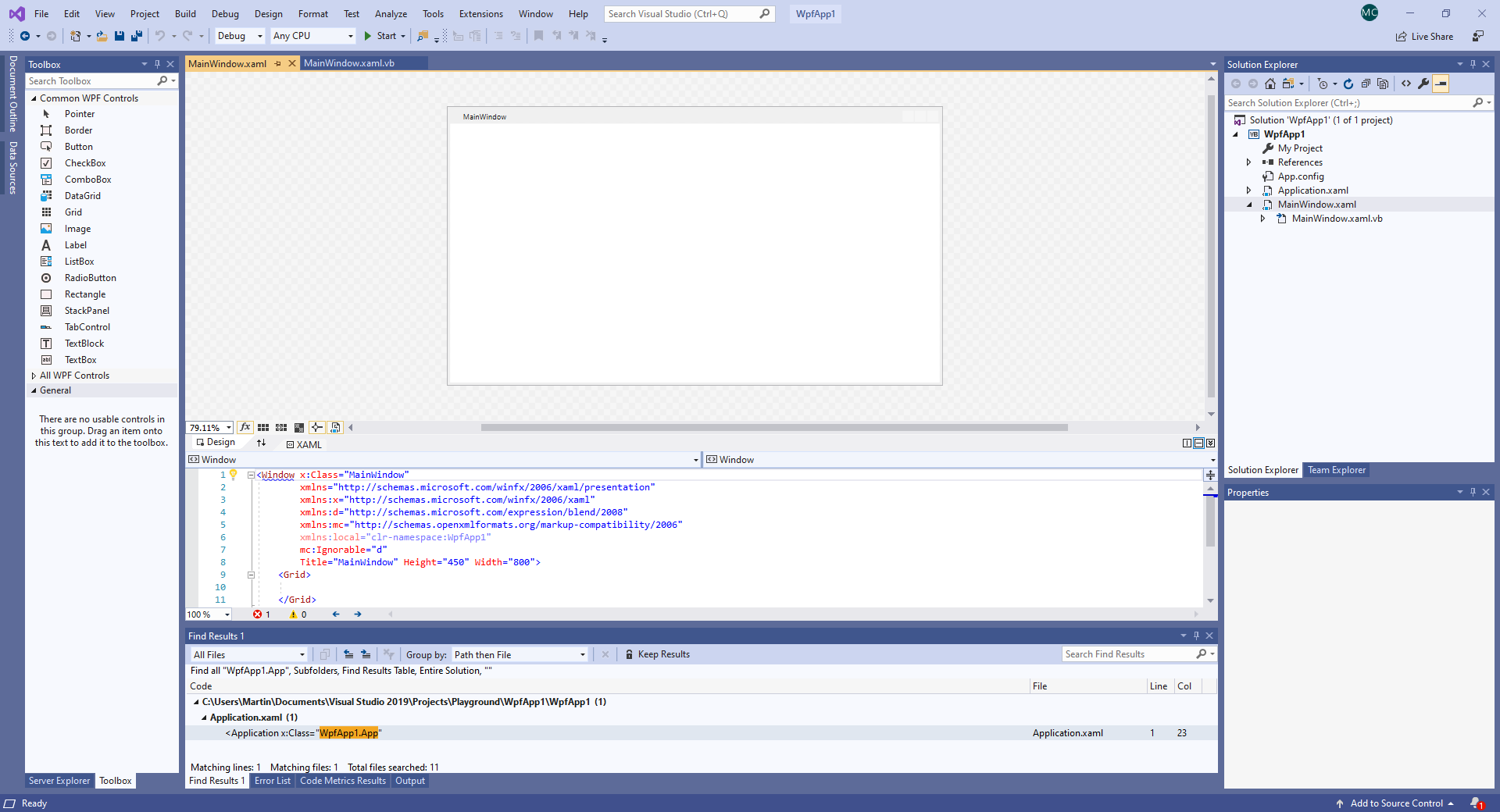 WPF VB.NET Main Window