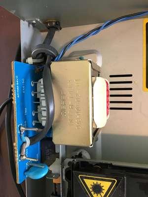 mains pins and transformer